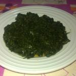 Insalata di spinaci cotti