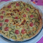 Torta salata con zucchine e pancetta affumicata