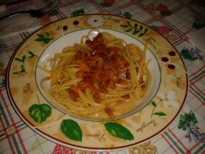 spaghettisalsiccia