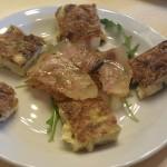Frittatine di cipolla e pancetta