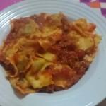 Ravioli ricotta e spinaci al ragù di carne