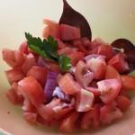 Insalata di pomodori e cipolla di Tropea