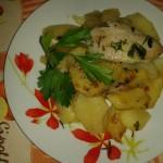 Filetti di persico al forno con patate