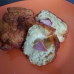 Polpette di patate con prosciutto cotto e mozzarella