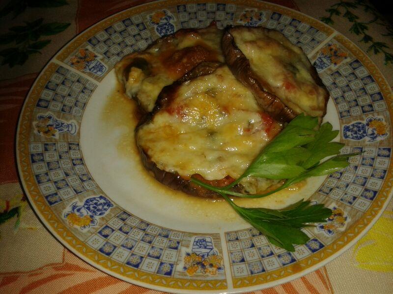 Melanzane al forno con pomodoro e caciocavallo