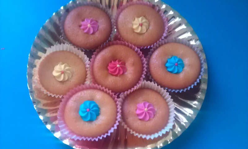 Muffin con decorazione