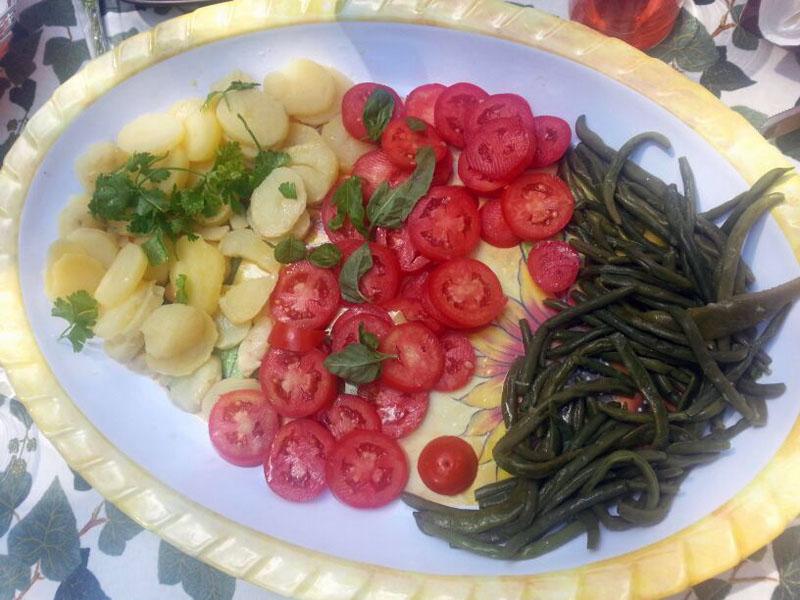 Insalata di pomodorini patate e fagiolini
