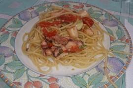 spaghetti polpo e peroncino