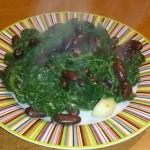 Spinaci con fagioli rossi