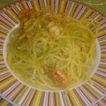 Spaghetti alla chitarra con gamberetti rossi e pistacchio