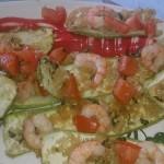 Zucchine e gamberetti gratinati